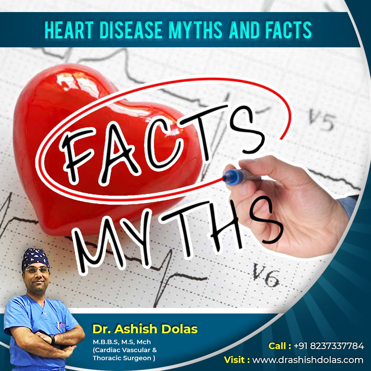 Heart Disease Myths & Facts by Dr. Ashish Dolas